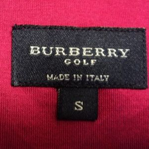 Burberry Tops - Burberry Golf London Shirt Size 8 Dark Red Italy